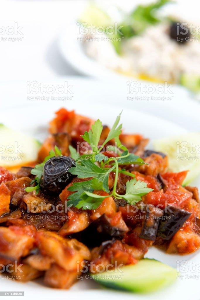 Turkish Cuisine: Shakshuka royalty-free stock photo