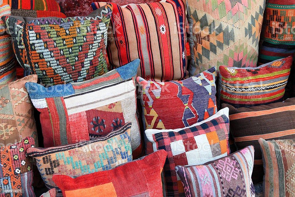 Turkish Cushions stock photo