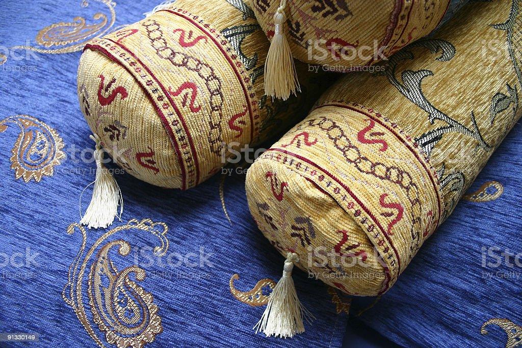 Turkish cushions royalty-free stock photo