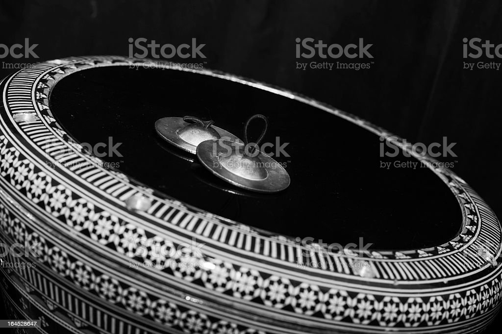 Turkish darbuka and Sagat stock photo