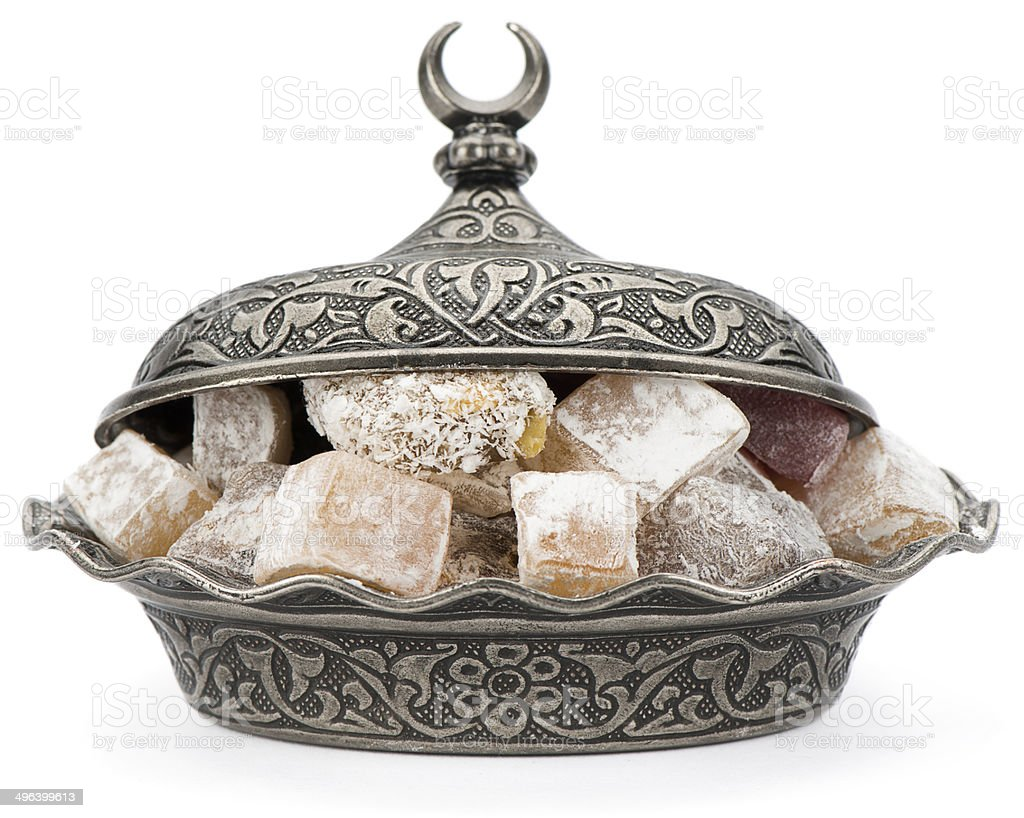 Turkish Delight Close-up stock photo