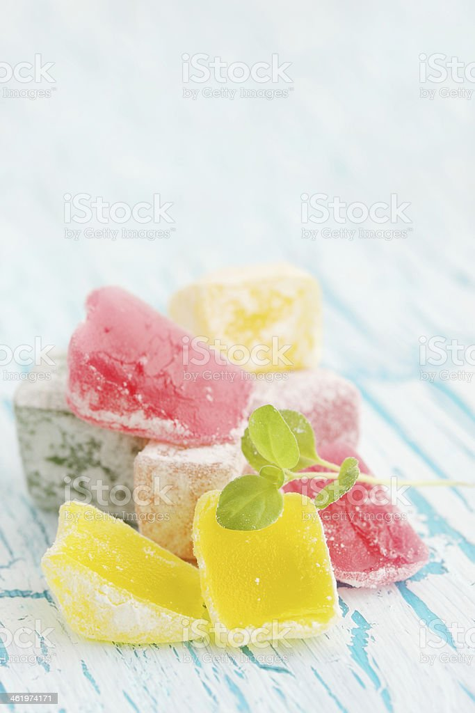 Turkish delight, copy- space stock photo