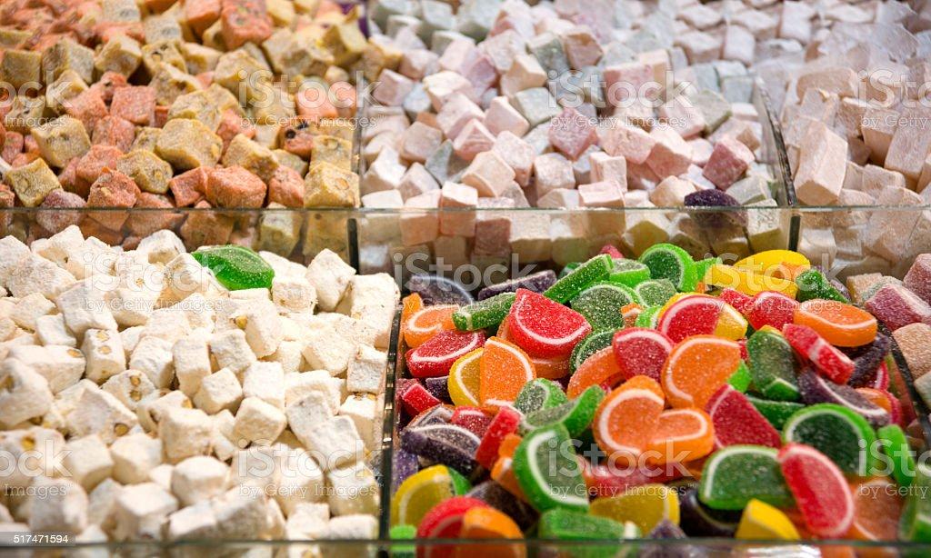 Turkish delight Gummi Candy stock photo