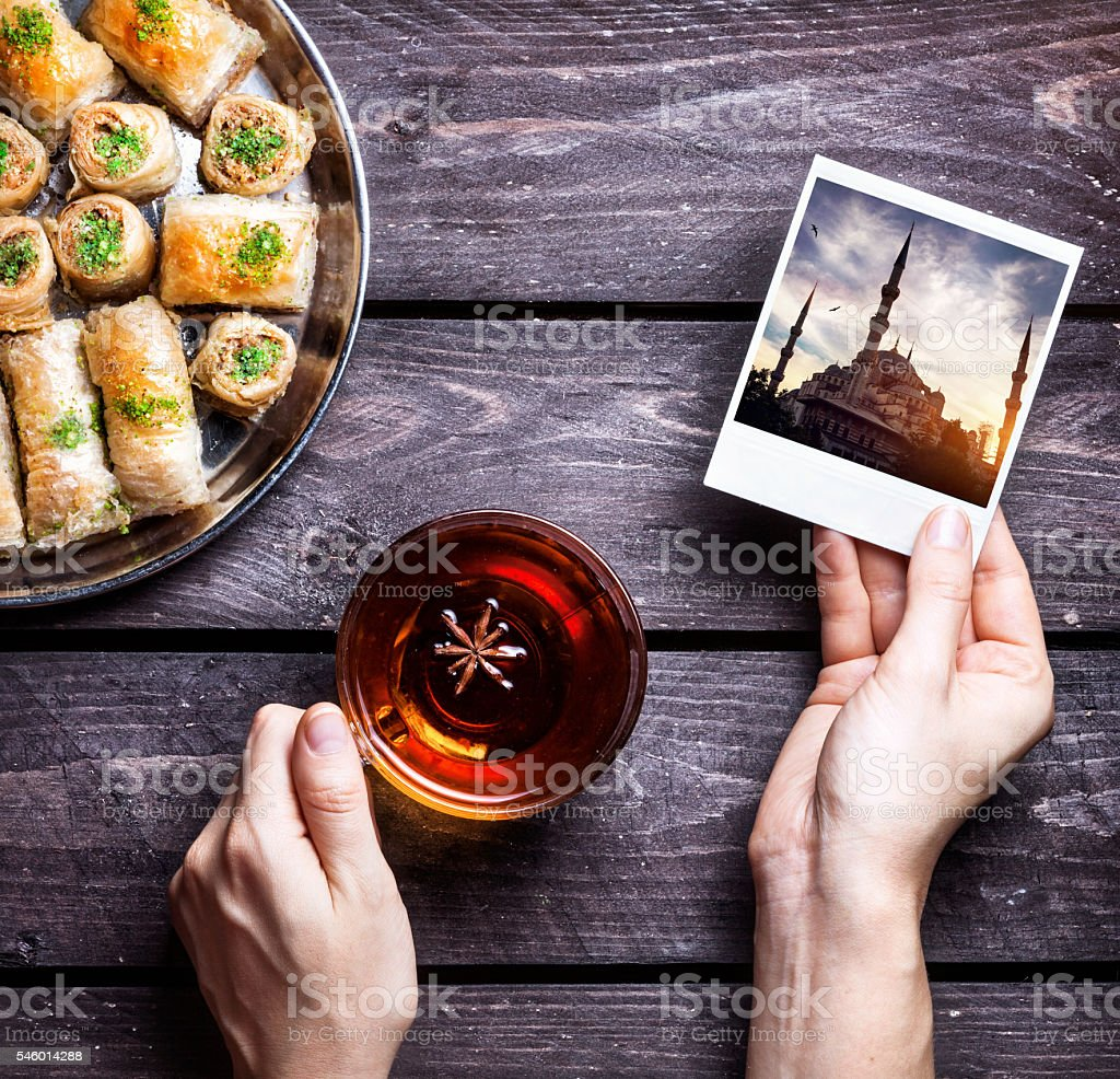 Turkish delights memories stock photo