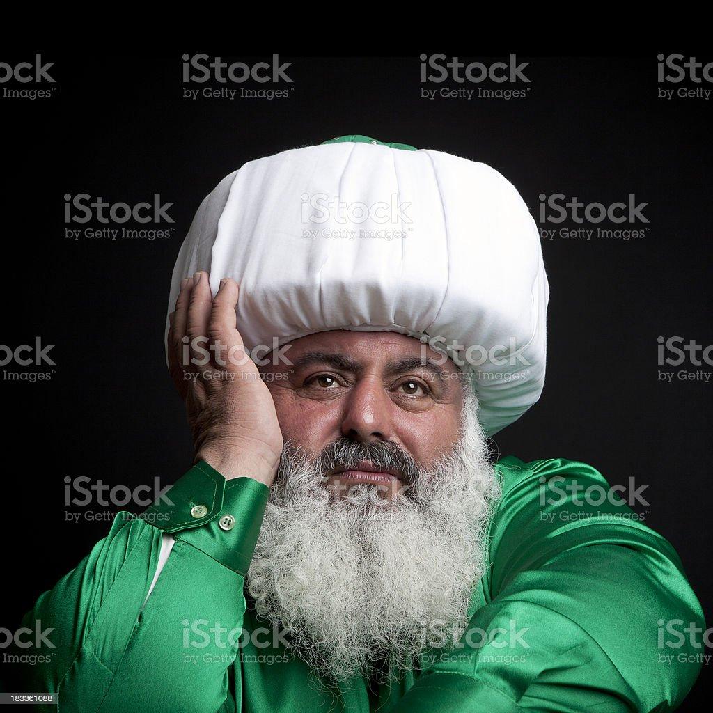 Turkish Dervish stock photo