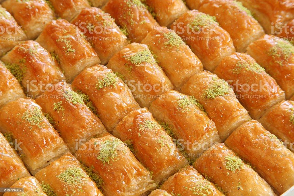 Turkish Dessert Baklava stock photo
