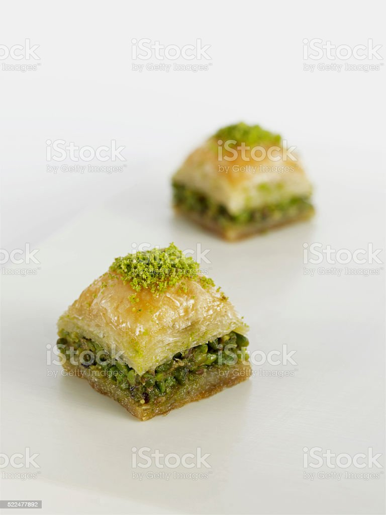 Turkish dessert Baklava stock photo
