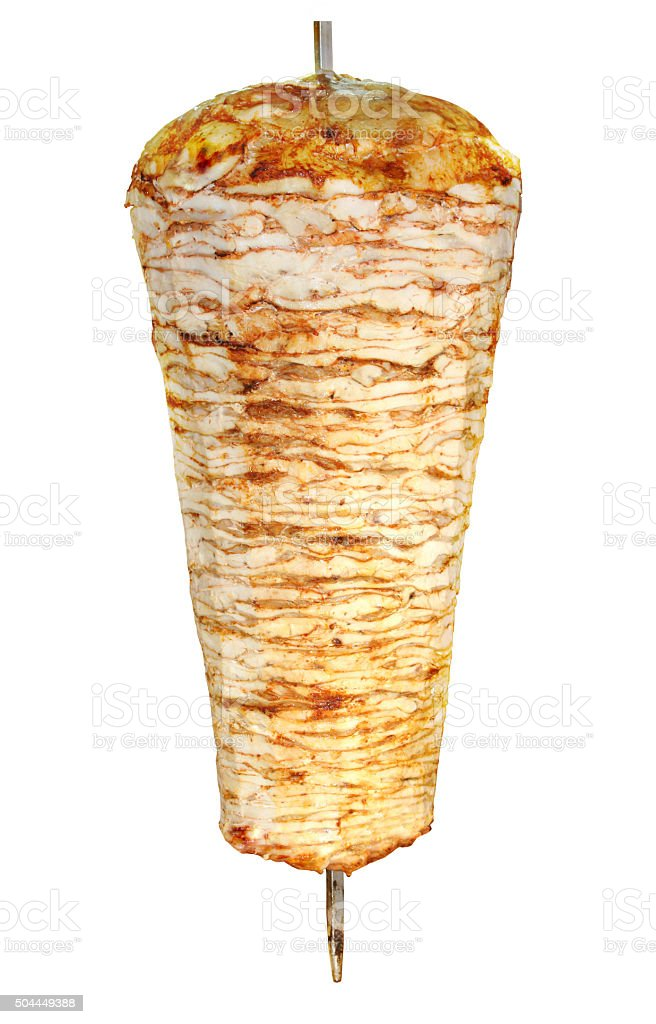 Turkish doner kebab ( chicken ) stock photo