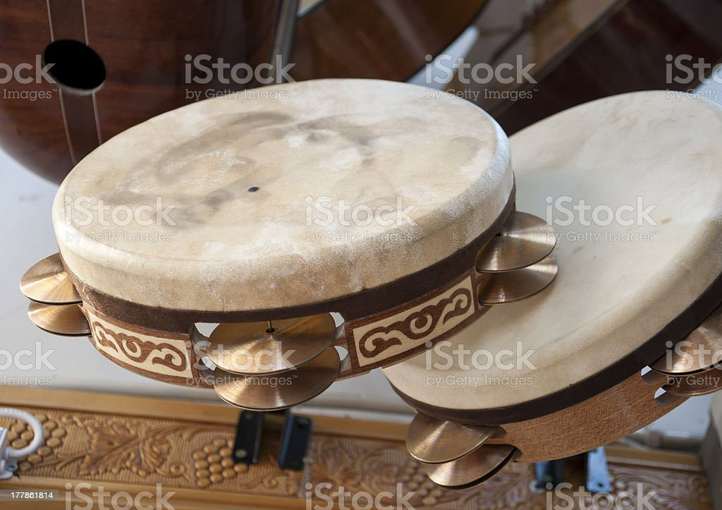 Turkish drums stock photo