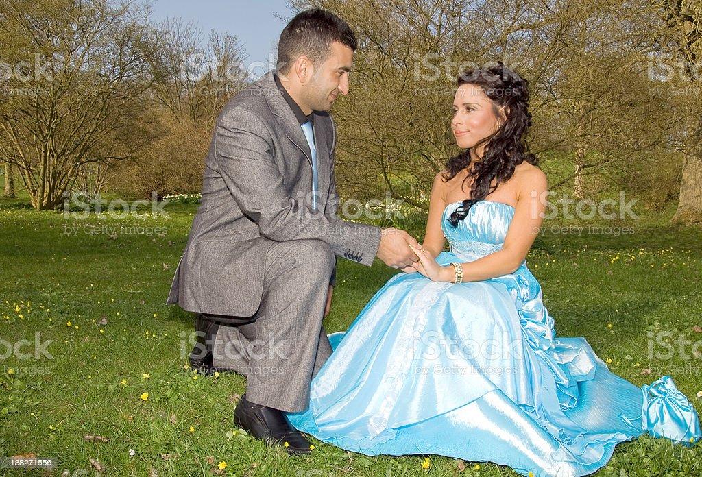 turkish ethnic engagement wedding couple royalty-free stock photo