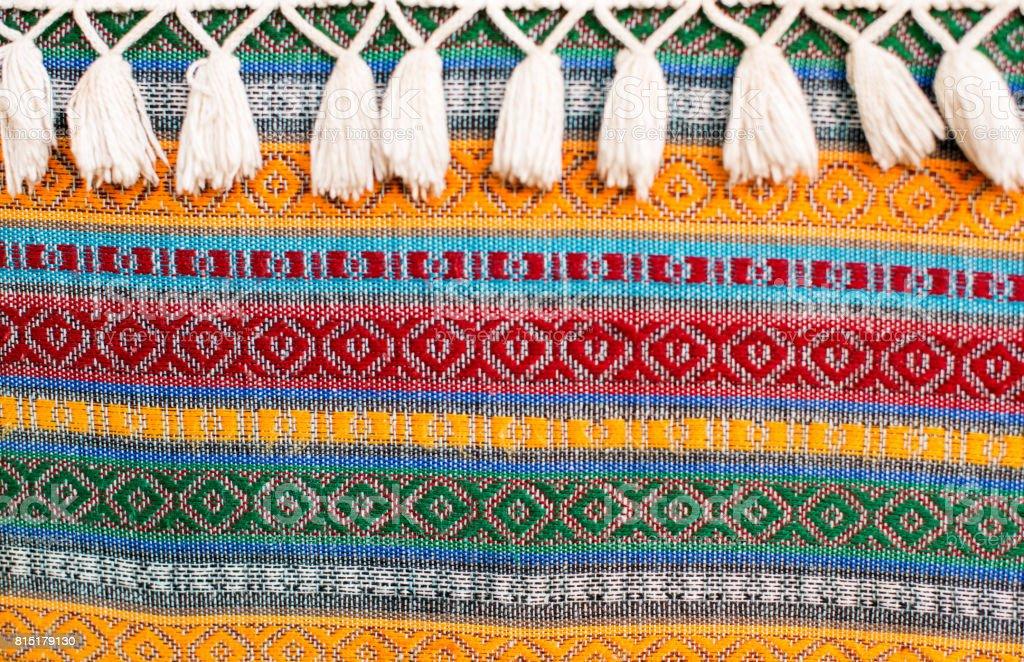 Turkish fabric texture stock photo
