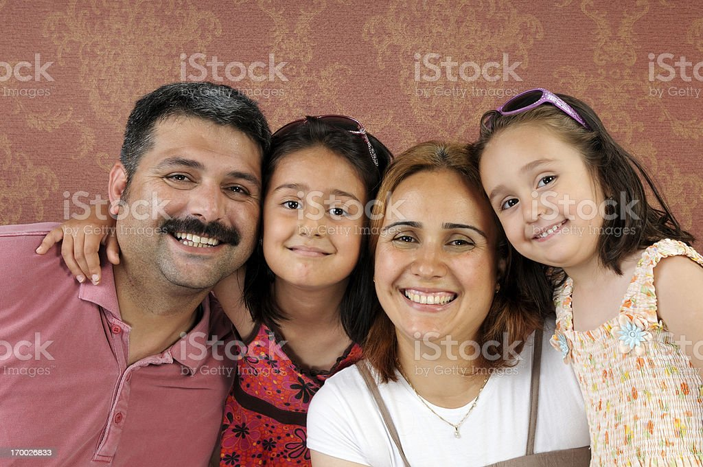 Turkish Family stock photo