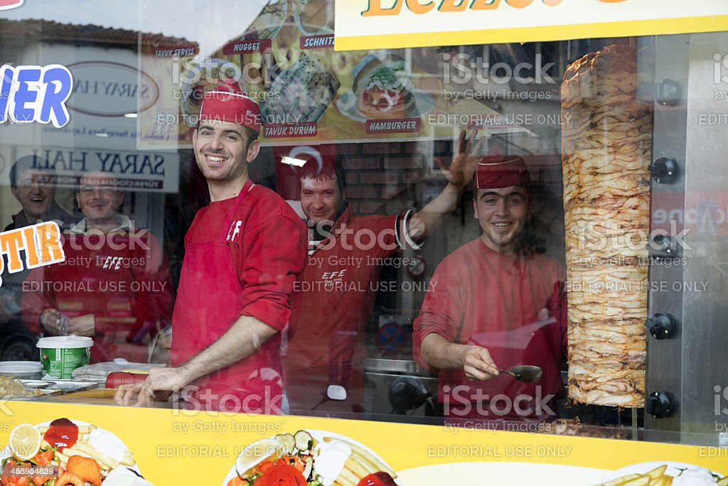 Turkish fast food and döner restaurant royalty-free stock photo