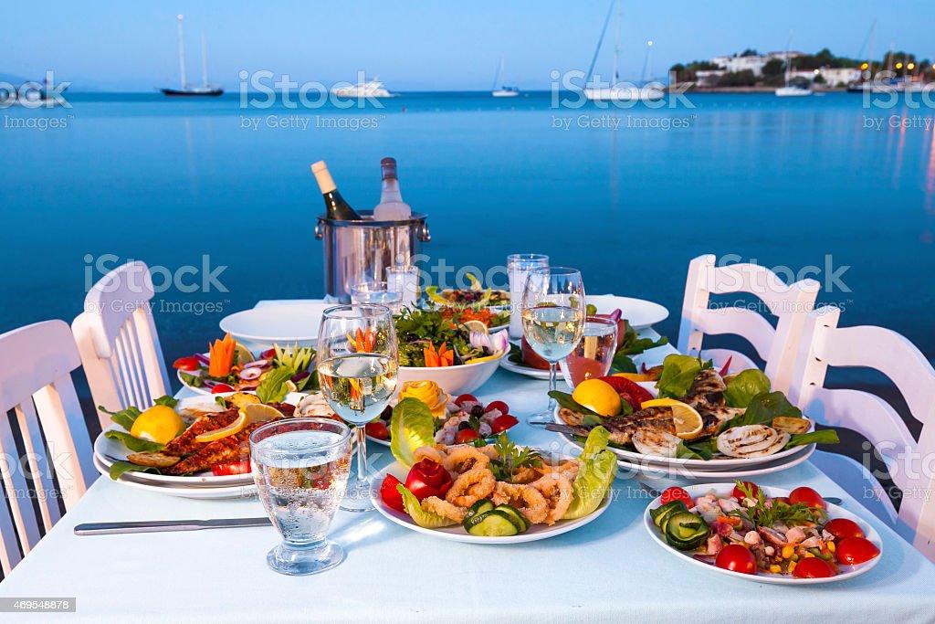 Turkish Fish Dinner stock photo