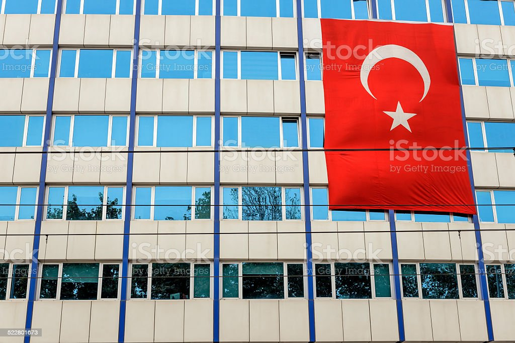 Turkish flag, Instanbul,Turkey stock photo