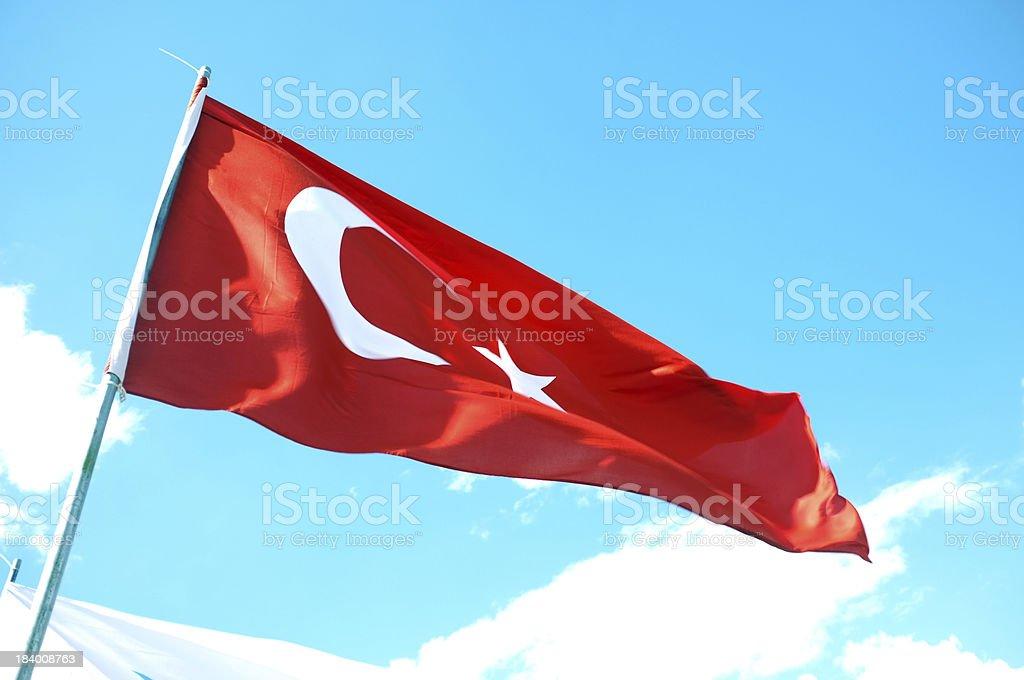 Turkish Flag royalty-free stock photo