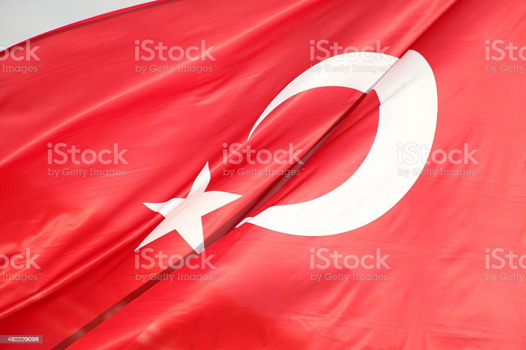 Turkish flag stock photo