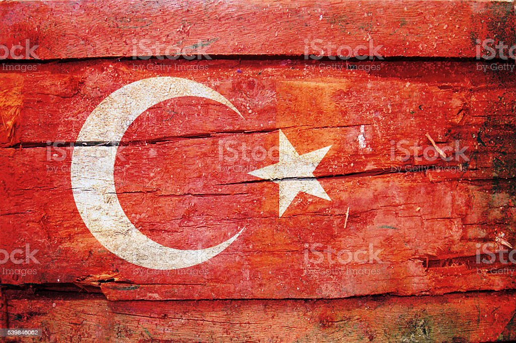 Turkish Flag - Turkey stock photo