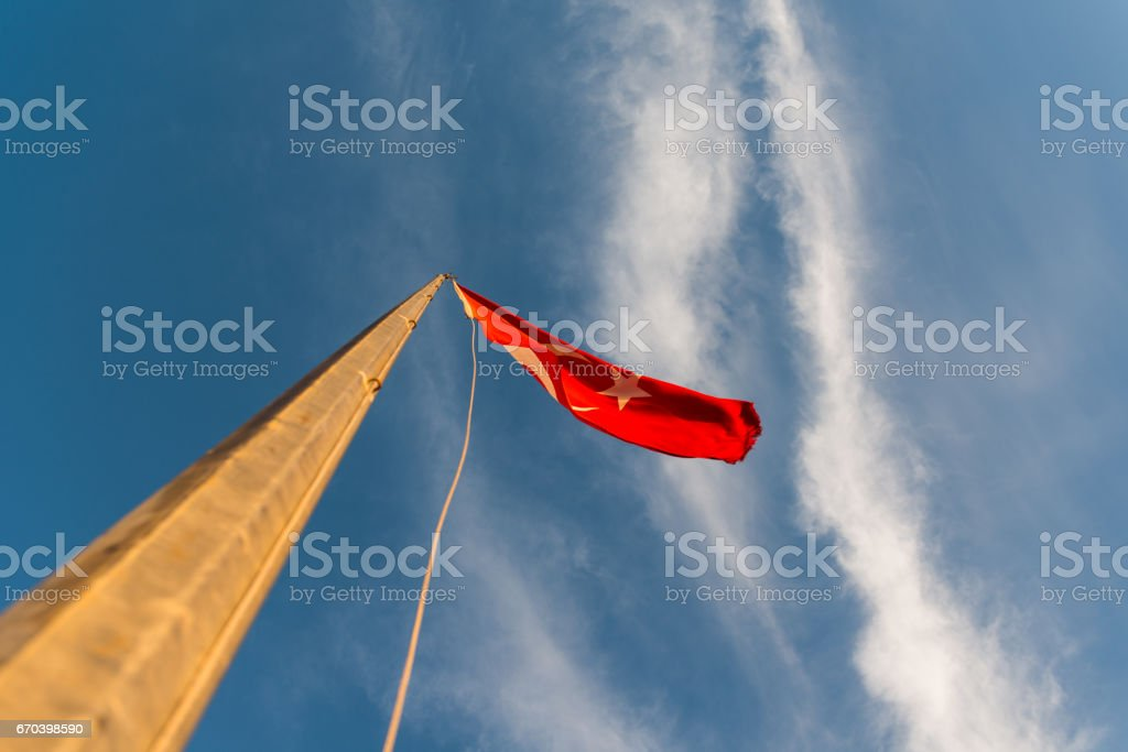 Turkish Flags. Canakkale/Turkey stock photo