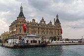 Turkish flags hanged on Haydarpasa