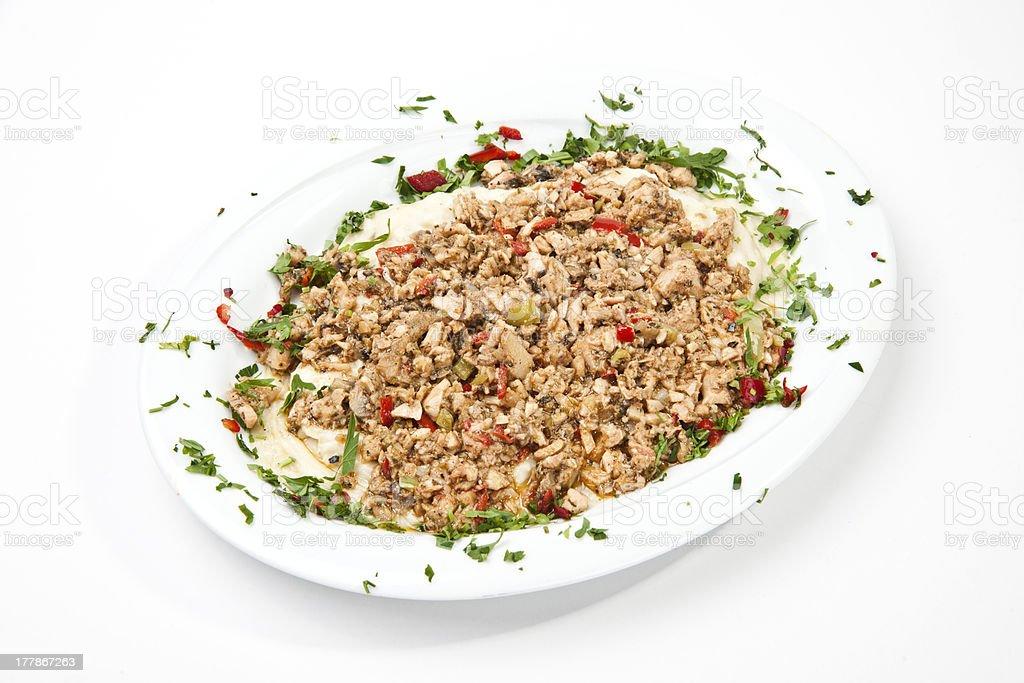 Turkish food Kokorec royalty-free stock photo