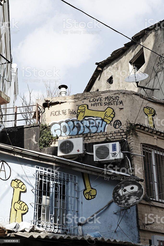 Turkish Grafitti stock photo