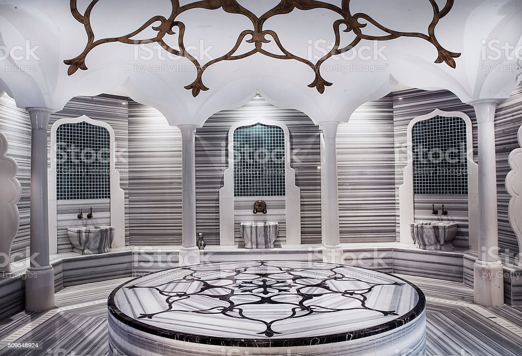Turkish hammam, bathroom stock photo