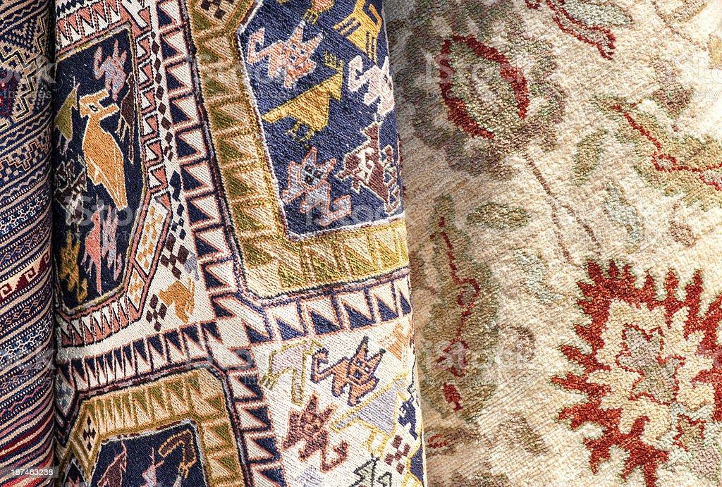 Turkish Hand Made Carpet royalty-free stock photo