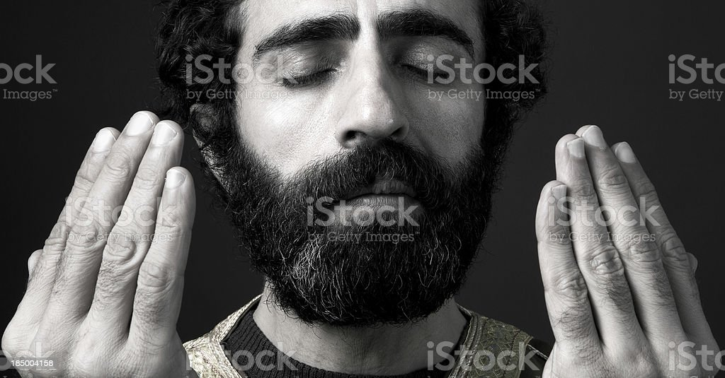 Turkish Imam Praying royalty-free stock photo