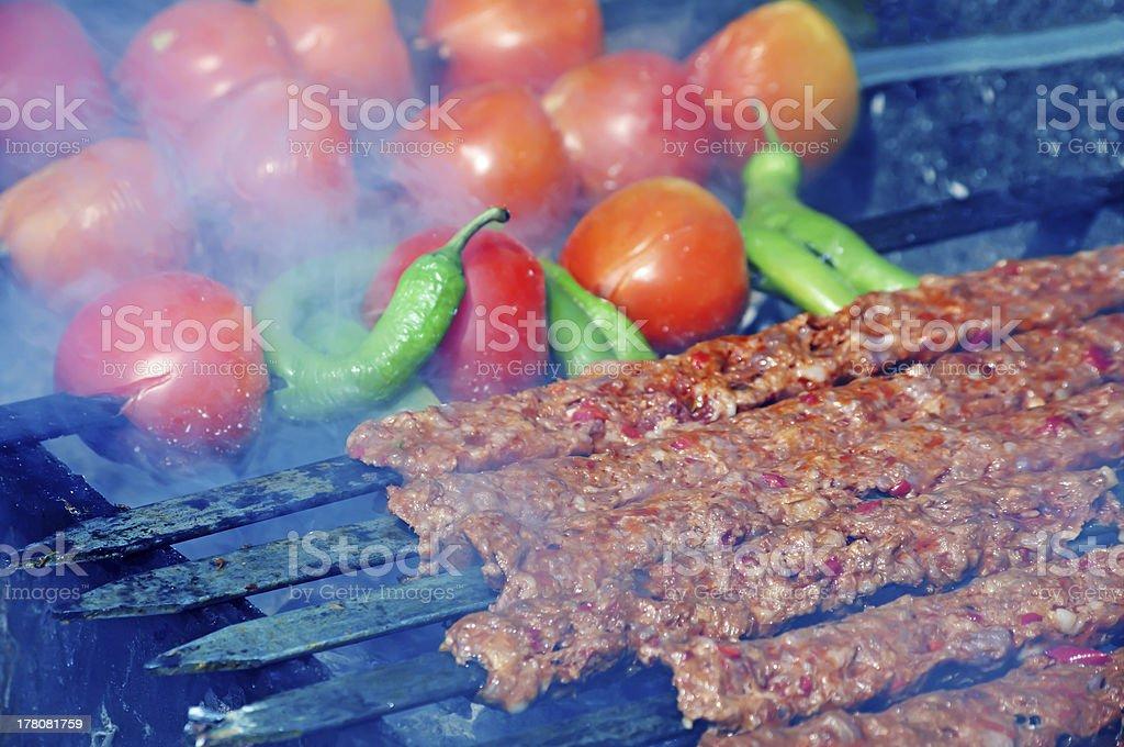 Turkish Kebab royalty-free stock photo