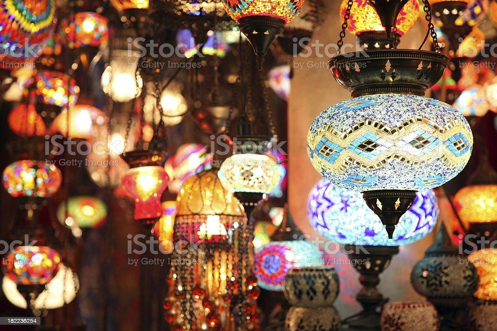 Turkish lamps royalty-free stock photo