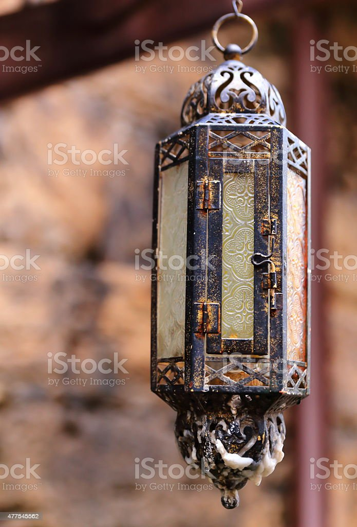Turkish lantern stock photo
