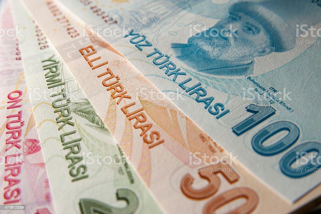 Turkish Lira royalty-free stock photo