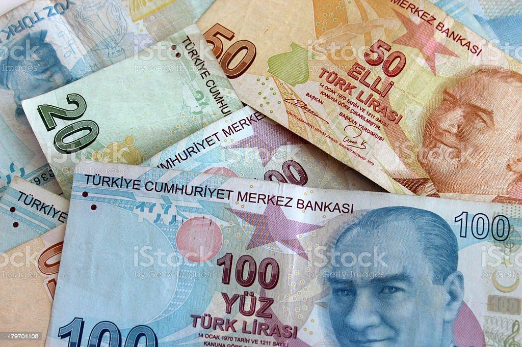 Turkish Lira stock photo