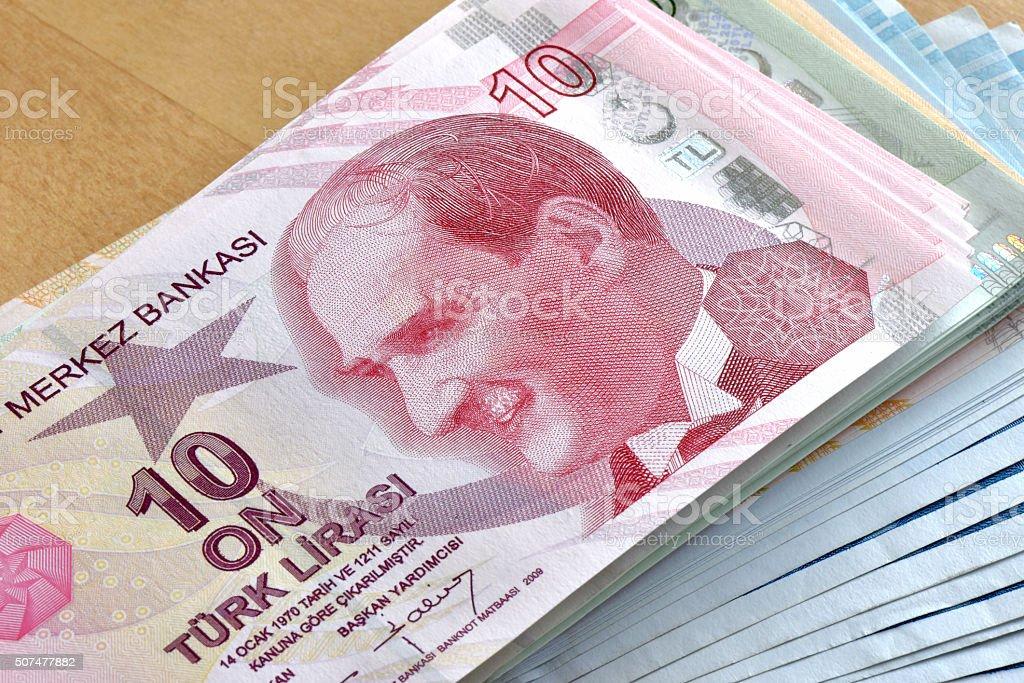 Turkish Lira, Ten TL stock photo