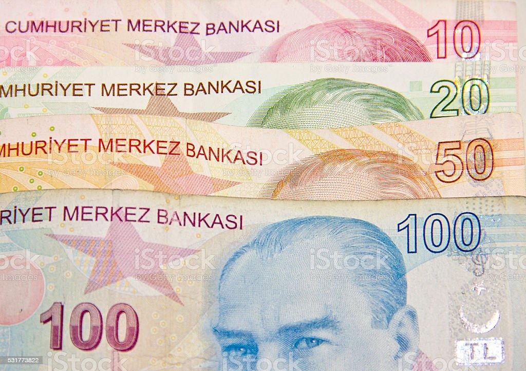 Turkish Liras stock photo