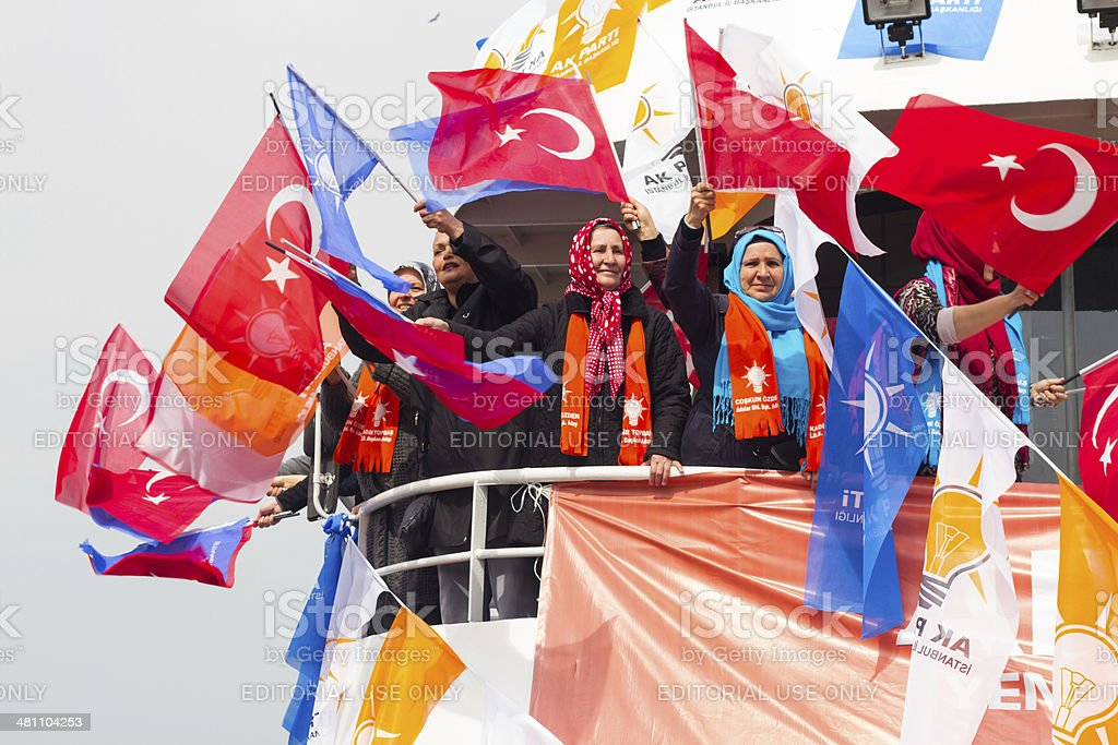 Turkish local elections, 2014 stock photo