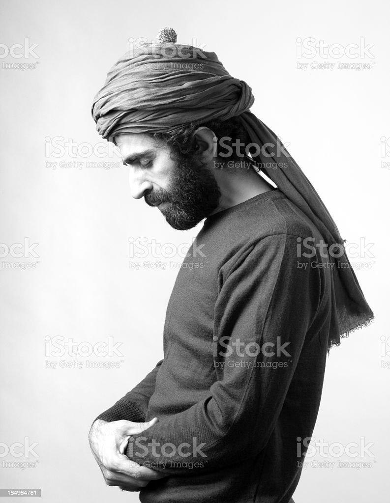 Turkish Man Praying royalty-free stock photo