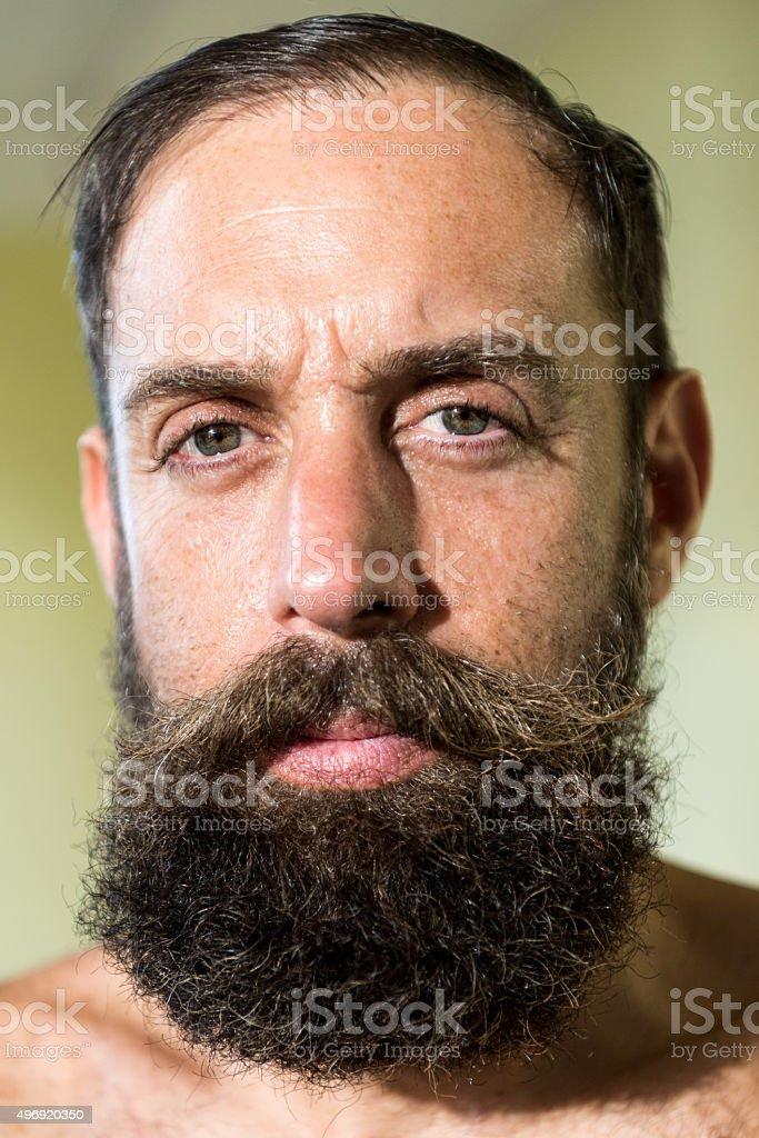 Turkish mature man stock photo