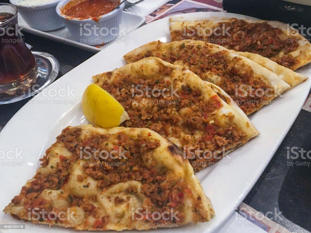 Turkish meat pies stock photo