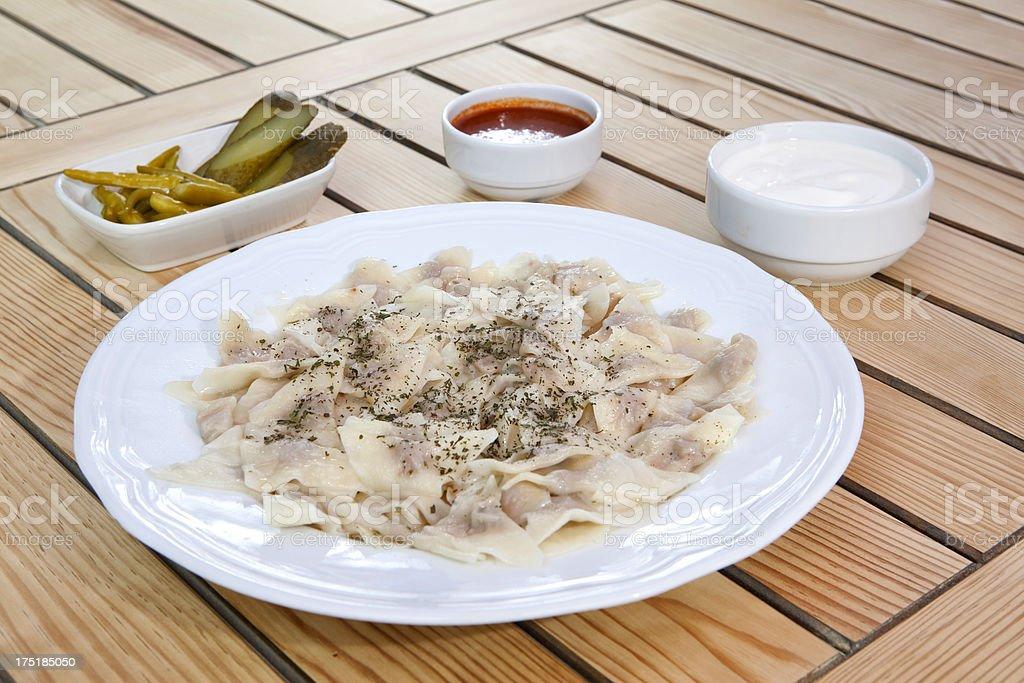 Turkish Meat Ravioli royalty-free stock photo