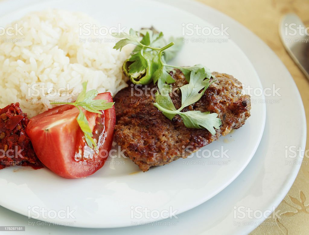 Turkish meatball stock photo