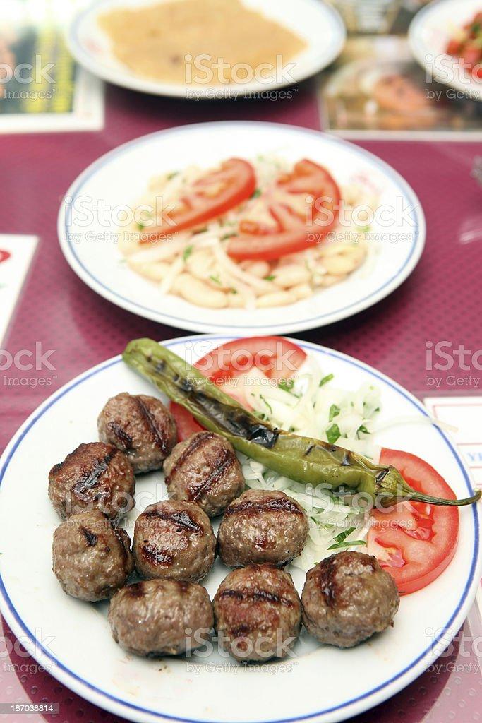 Turkish Meatball royalty-free stock photo
