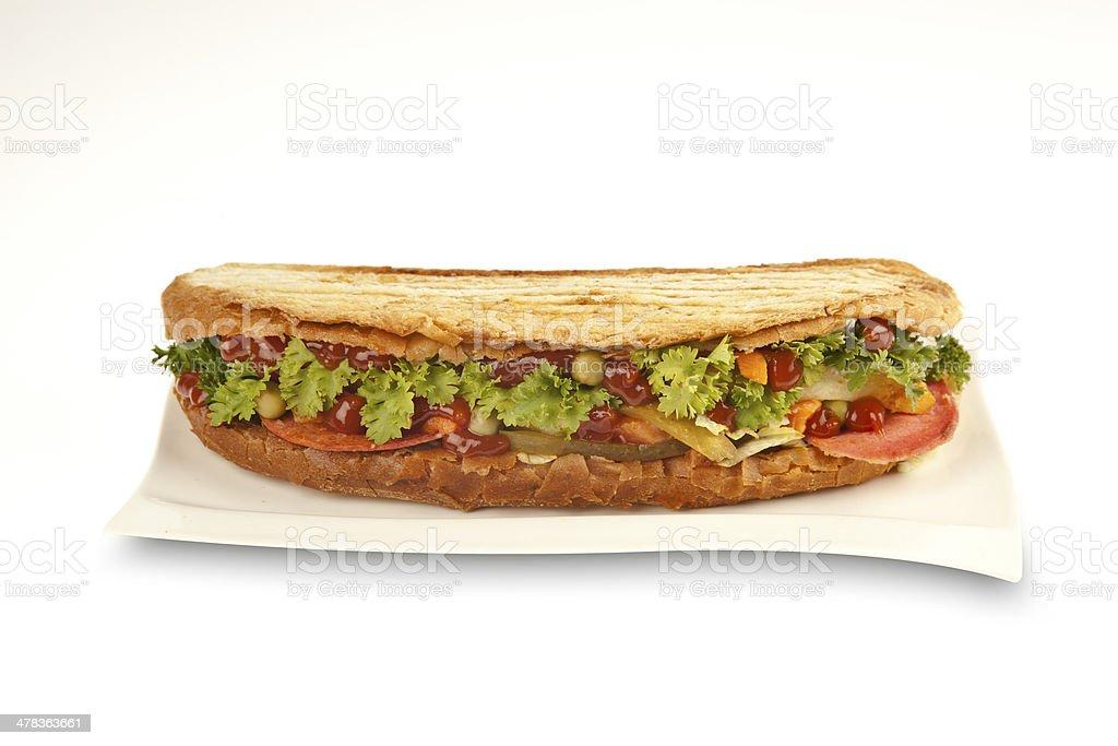 Turkish Mix Salad Sandwich - Stock Image stock photo