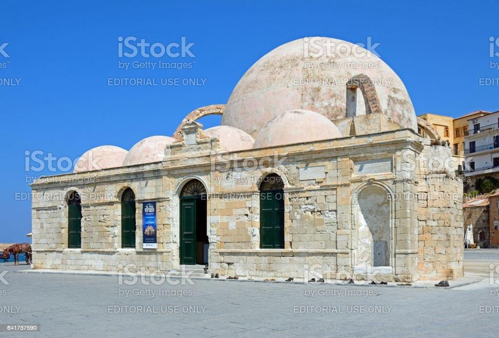 Turkish mosque, Chania. stock photo