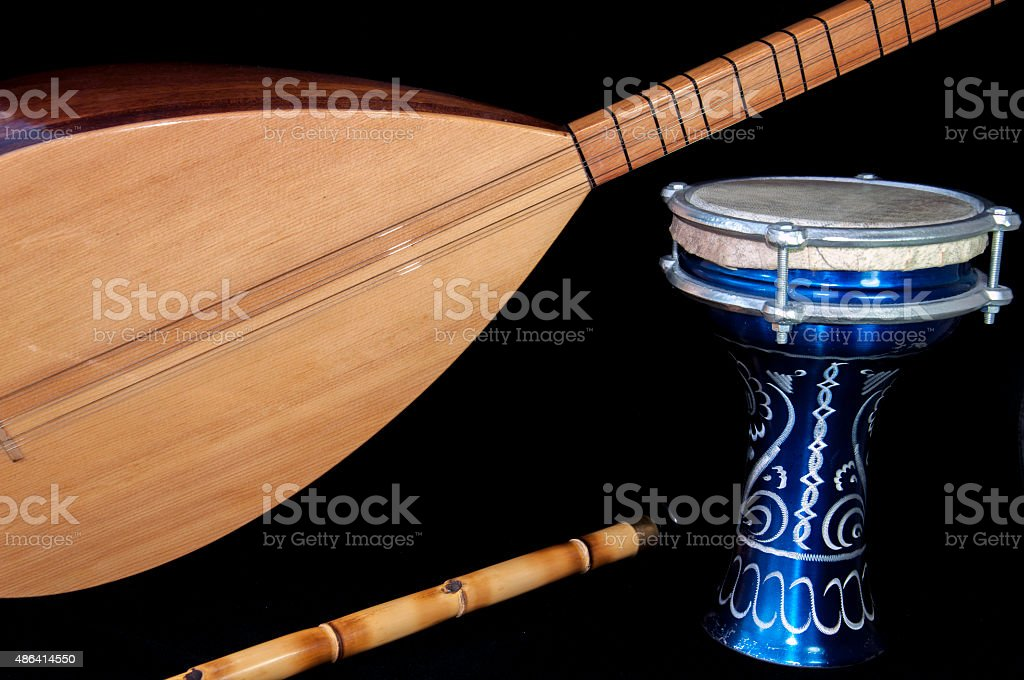 Turkish music instrumans stock photo