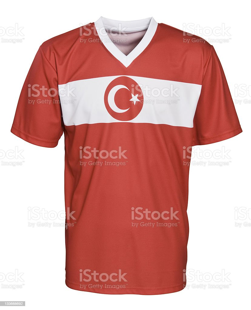 Turkish National Football Team's Uniform royalty-free stock photo