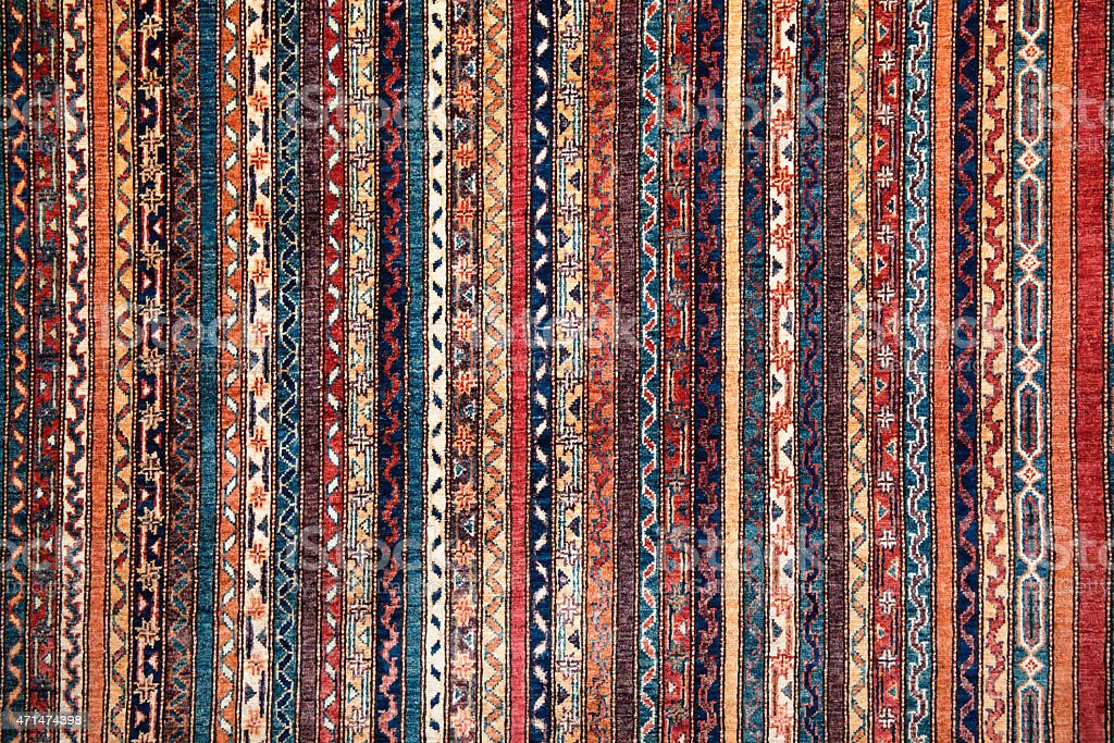 turkish or persian carpet stock photo