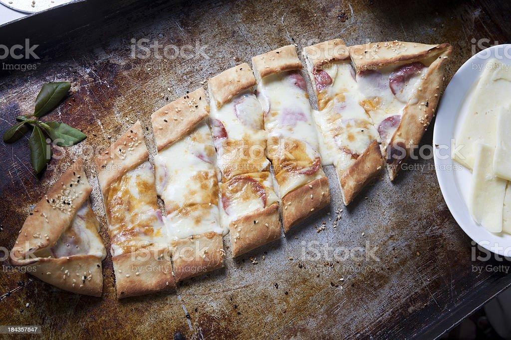 Turkish Pizza royalty-free stock photo