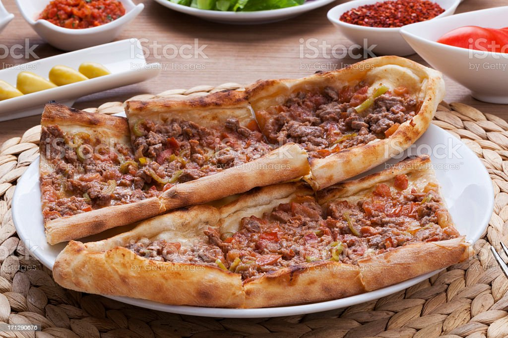 Turkish Pizza - Pide royalty-free stock photo